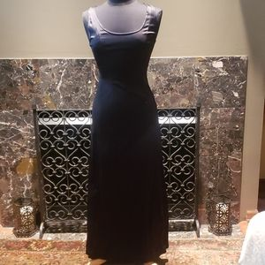Long satin/spandex dress